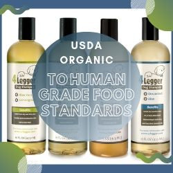 USDA Organic Dog Shampoo to Human Grade Food Standards