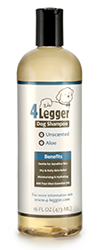 4-Legger Unscented with Aloe is Hypoallergenic and gentle for dogs with allergies or sensitivities