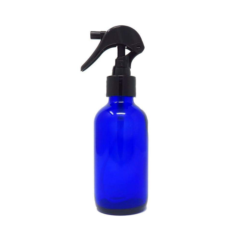 cobalt blue bottle with 4 oz sprayer
