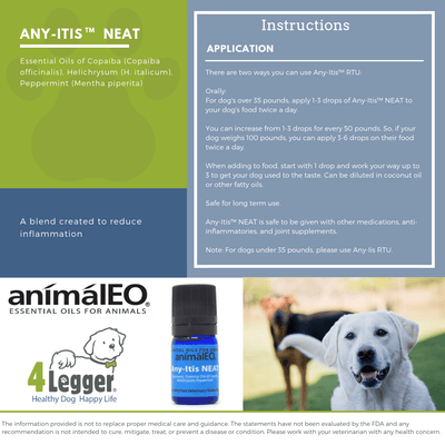 Essential Oil Blends By AnimalEO - Any-Itis™ NEAT To Support The Reduction Of Inflammation By AnimalEO®