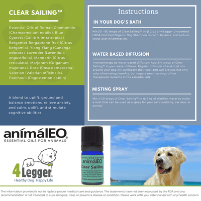 pet safe essential oils to reduce stress and anxiety and provide calm energy