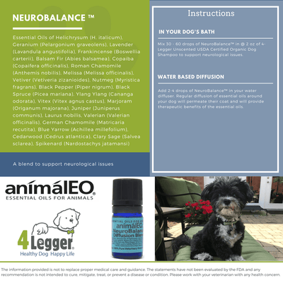 Pet safe essential oils to support dog's seizures, GME, and other neurological conditions