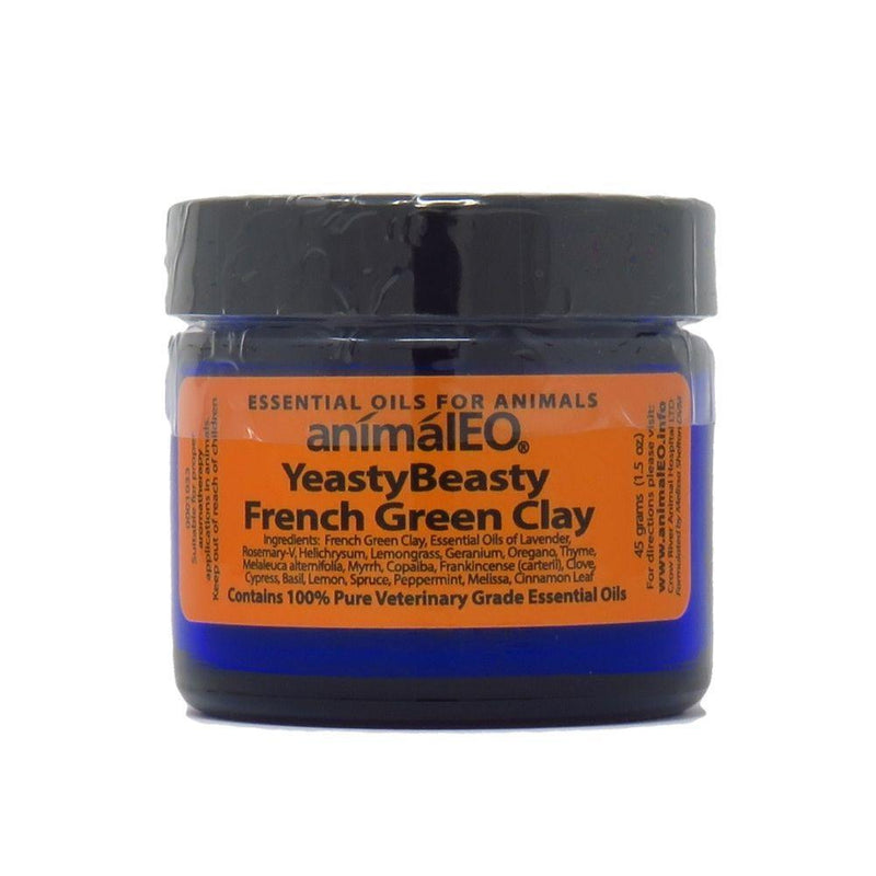 French Green Clay with Yeasty Beasty Essential Oil Blend by animalEO