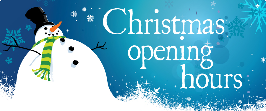 Christmas Opening Hours @ MHS