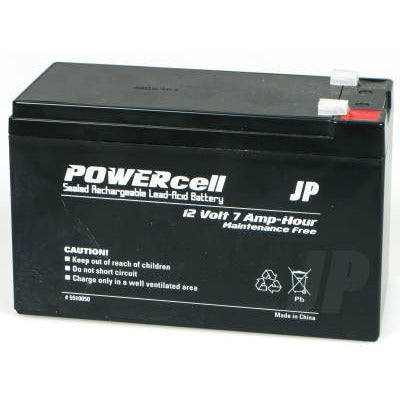 12V-7AMP POWERCELL GEL BATTERY - Model Heli Services
