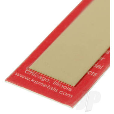 8239 .025 x 2 Brass Strip (1) - Model Heli Services