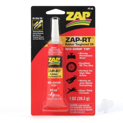 Zap-RT Rubber Toughened CA 1oz PT44