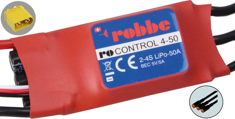 Robbe Ro-Control 4-50 2-4S -50 (70) A 5V / 5A Switch Bec