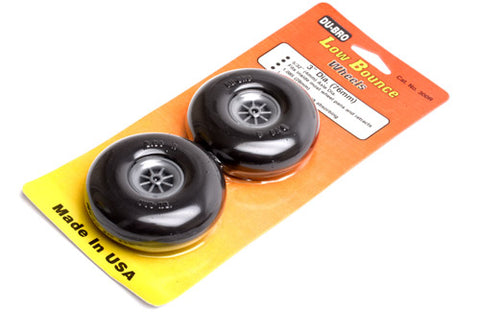 "Dubro 3.25"" Round & Smooth Wheels (Pair)"