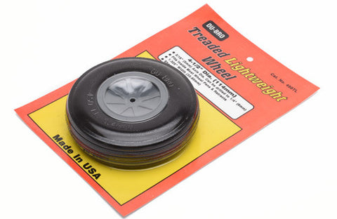 "Dubro 4"" Round & Smooth Wheel"