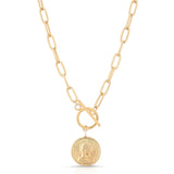 Viviane Gold Medallion Necklace