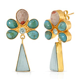FATU Turquoise & Pink Opal Earrings