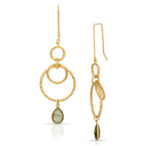 Oumou Labradorite Gold Earrings