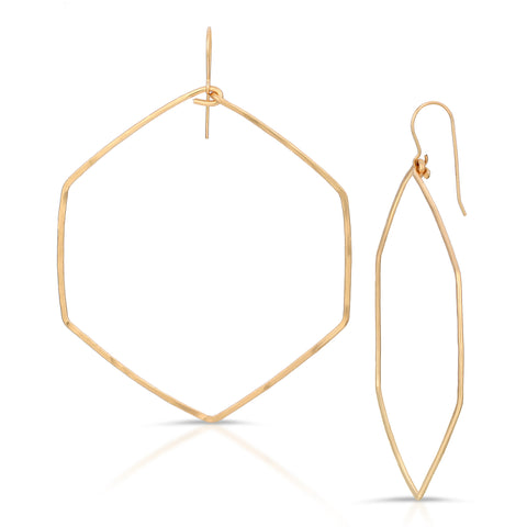 Halle Signature Hexagon Hoops