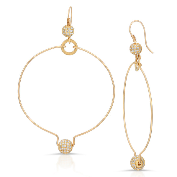 Rokia Crystal Hoop Earrings