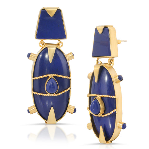 Hatshepsut Scarab Earrings