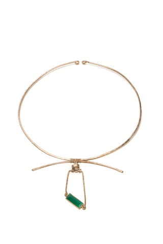 Emerald Quartz Pendant Collar Necklace