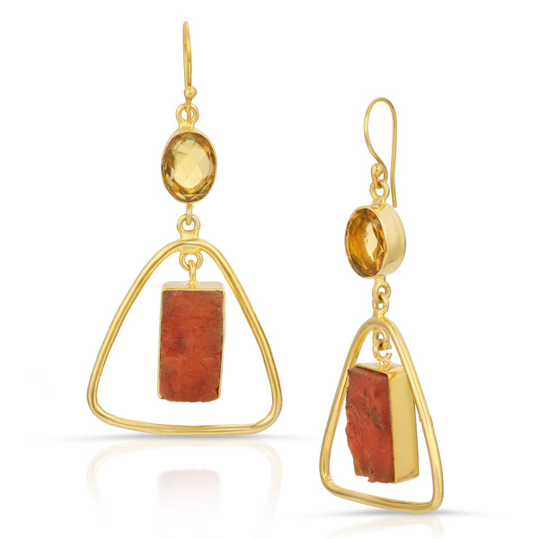 Sara Carnelian  Drop Earrings