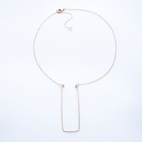 Alingo Rectangular Pendant Necklace