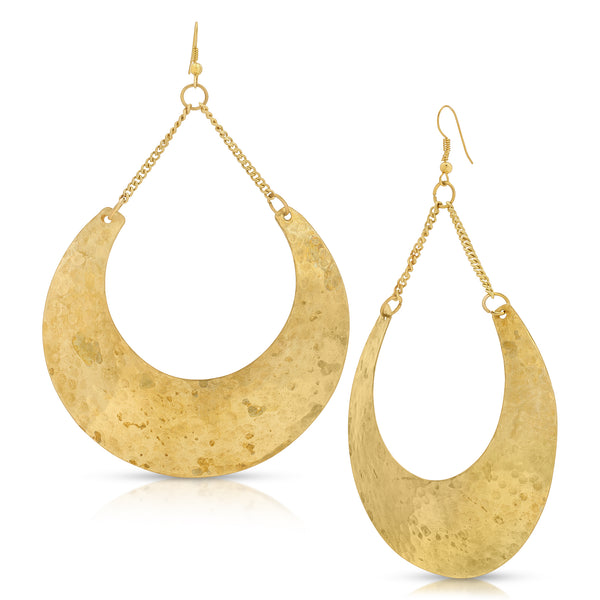 Gazi Beach Crescent Hoop Earrings