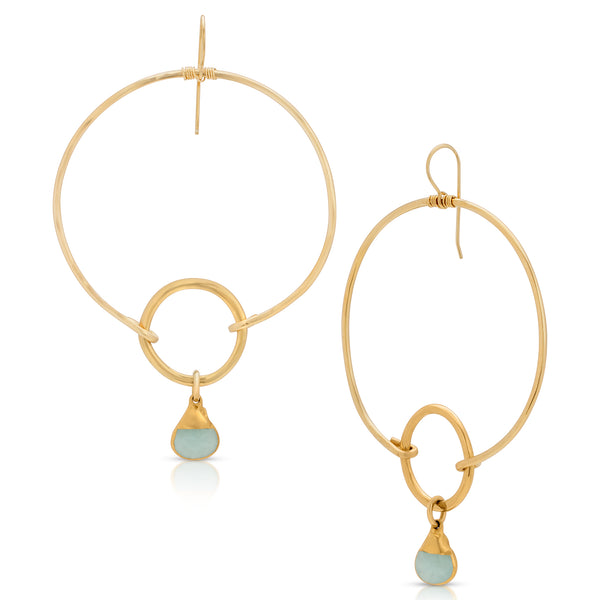 LUANDA Chalcedony Earrings