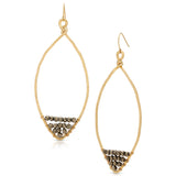 Pyrite Leaf Hoops