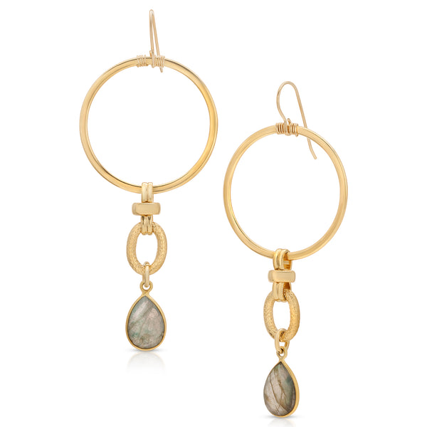 Addis Labradorite Drop Earrings