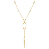 JOZY Y Drop Lariat Necklace