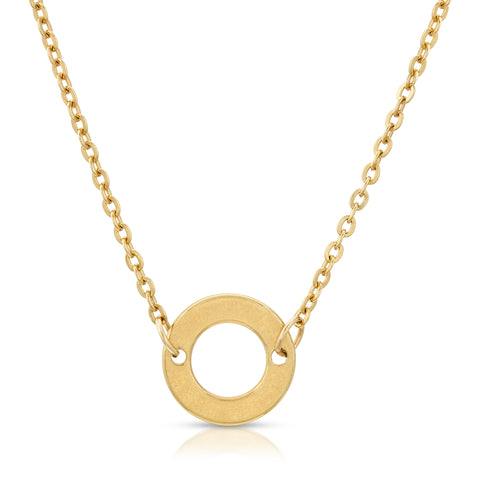 COTONOU Gold Circle Necklace