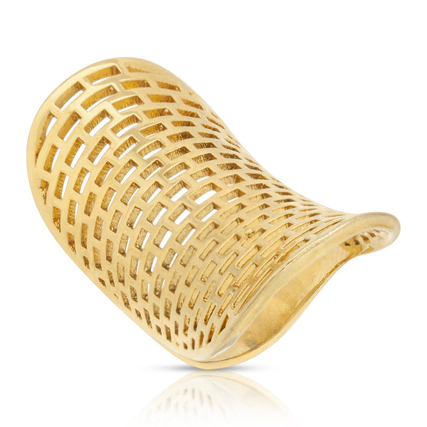 Asosa Gold Mesh Ring