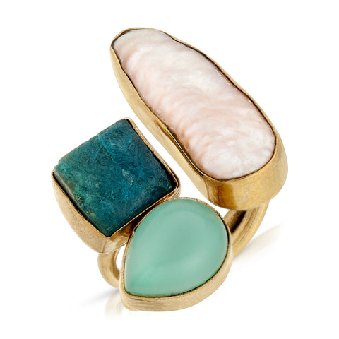 BIWA Pearl Gemstone Ring