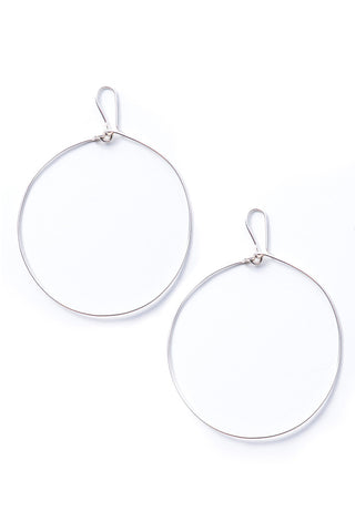 Nandi Silver Hoop Earrings