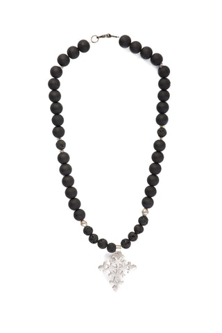 Tewodros Beaded Cross Necklace