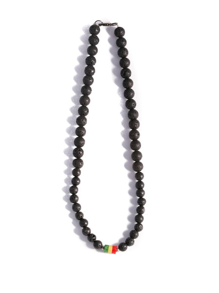 Lava Beaded Rasta Necklace