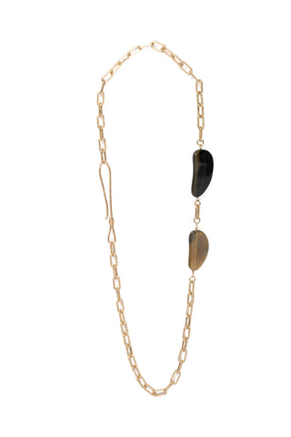 Serengeti Mixed Horn Long Link Necklace
