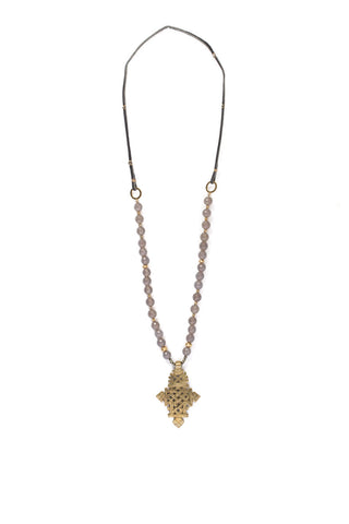 Menen Beaded Cross Necklace
