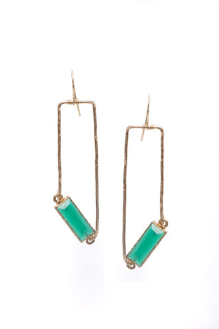 Emerald Quartz Drop Earrings