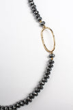 Kara Hematite Beaded Necklace