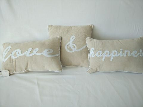 Cushion - Love and Happiness Set of 3