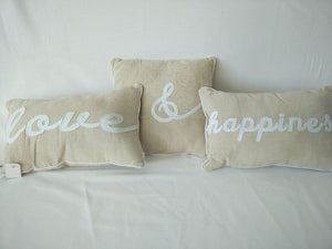 Set of 3 Love and Happiness Cushions