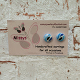 Fabric earrings- Assorted Designs by Missy's handcrated earrings