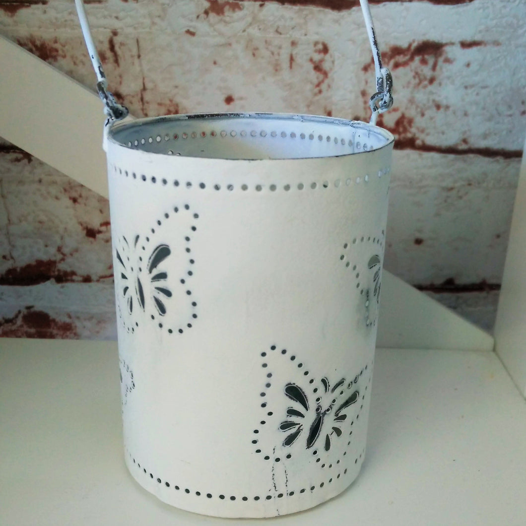 Metal candle Holder with Butterflies