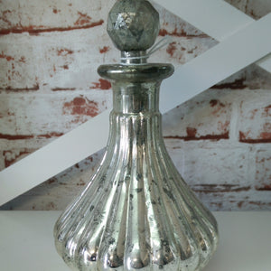 Large Rubbed Mercury Bottle with Stopper