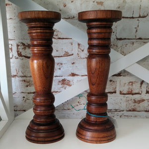 Pair of Wooden Candle Sticks - Ross Walker