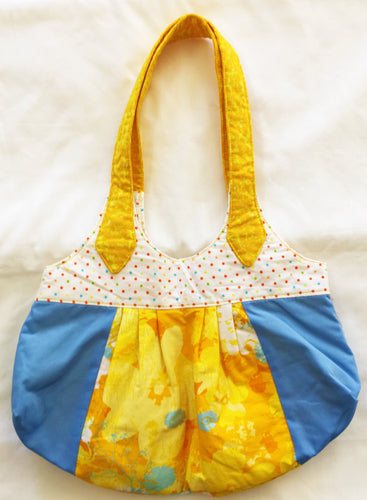 Ditzy Lou Small Yellow and Blue Bag