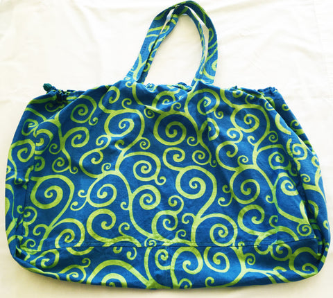 Ditzy Lou Blue and Green Swirl Bag