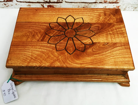 Large Flower Engraved Box - Ross Walker