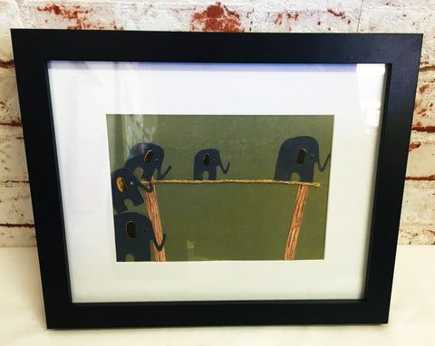 Elephants On a Tight Rope Frame