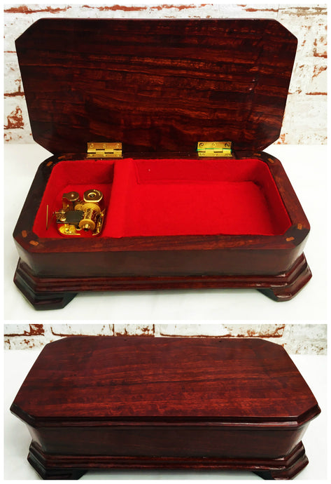 Small Red Gum Music Box (No Doll) - Ross Walker