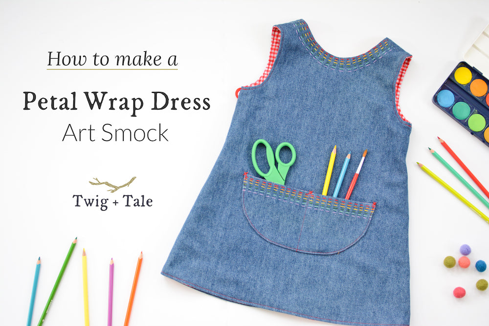 How to Make an Art Apron - Using the Free Petal Dress